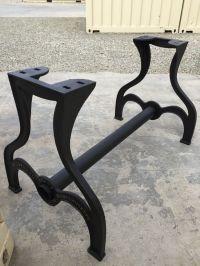 Massive Rustic Farm Table Leg Base CastIron Industrial ...