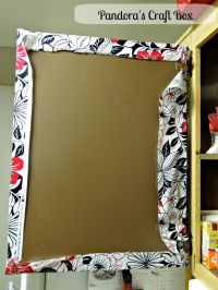 How to cover Cabinet doors with fabric and Mod Podge ...