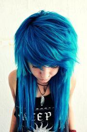 great blue hairstyles cobalt