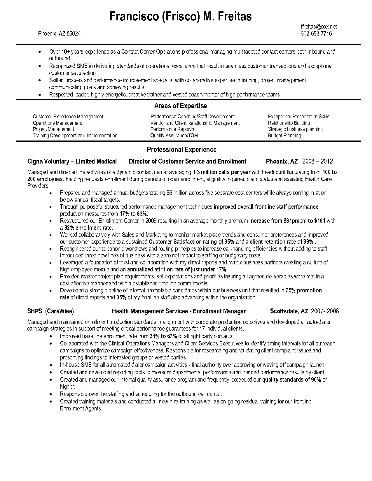 Insurance Claims Representative Resume Sample