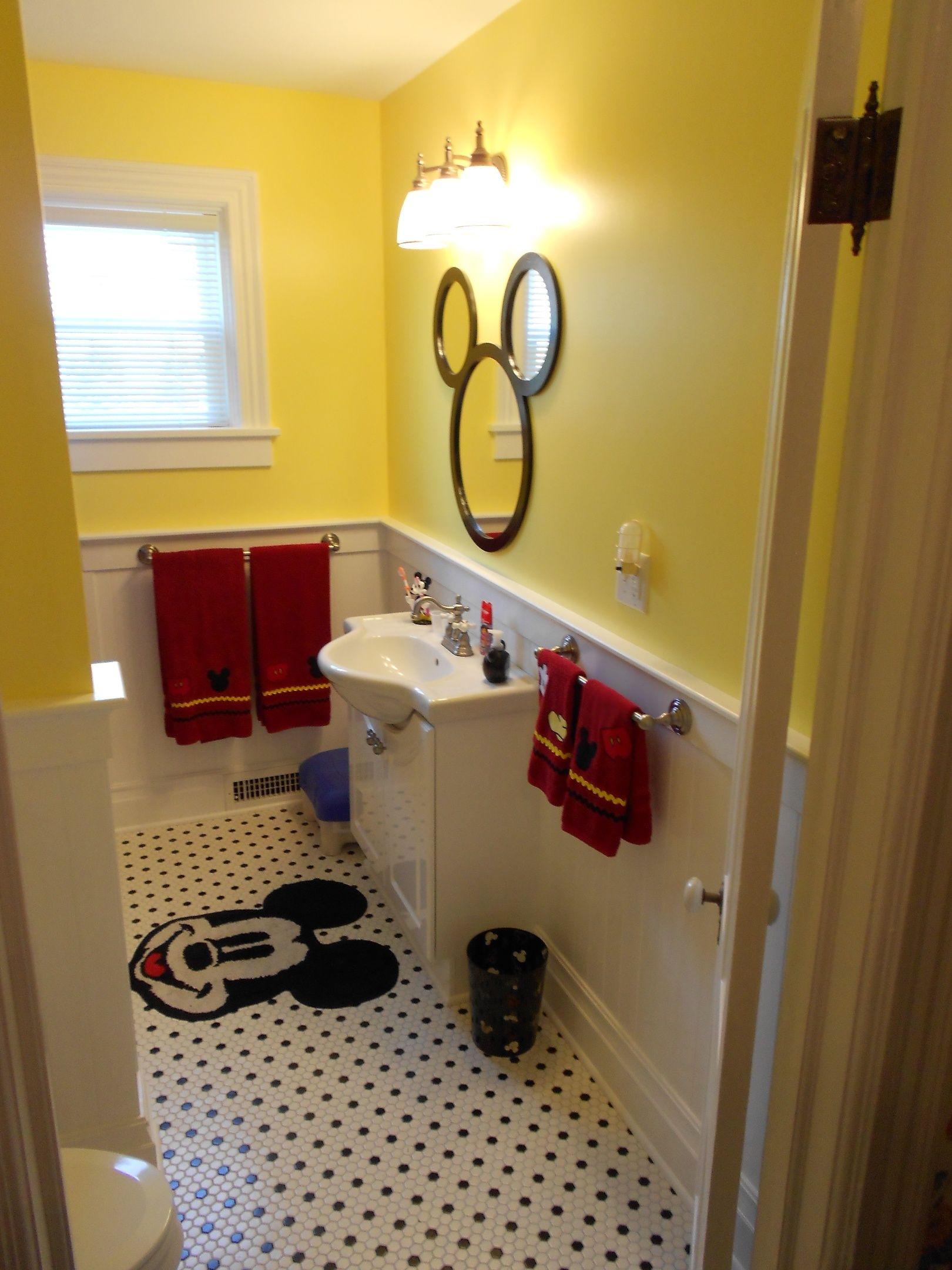 Original Pinner said Our newly renovated Mickey Bathroom