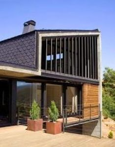 Lleida modern house cabin shape design with an expansive deck attached that invites contemporary al fresco also rh za pinterest