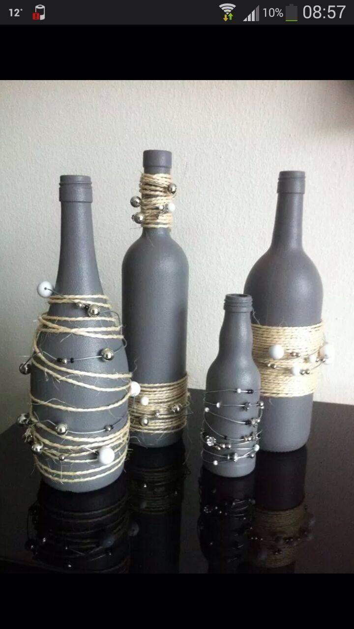 Flaschen  Garten  Pinterest  Flaschen Deko und Glas