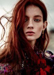 red hair model ideas