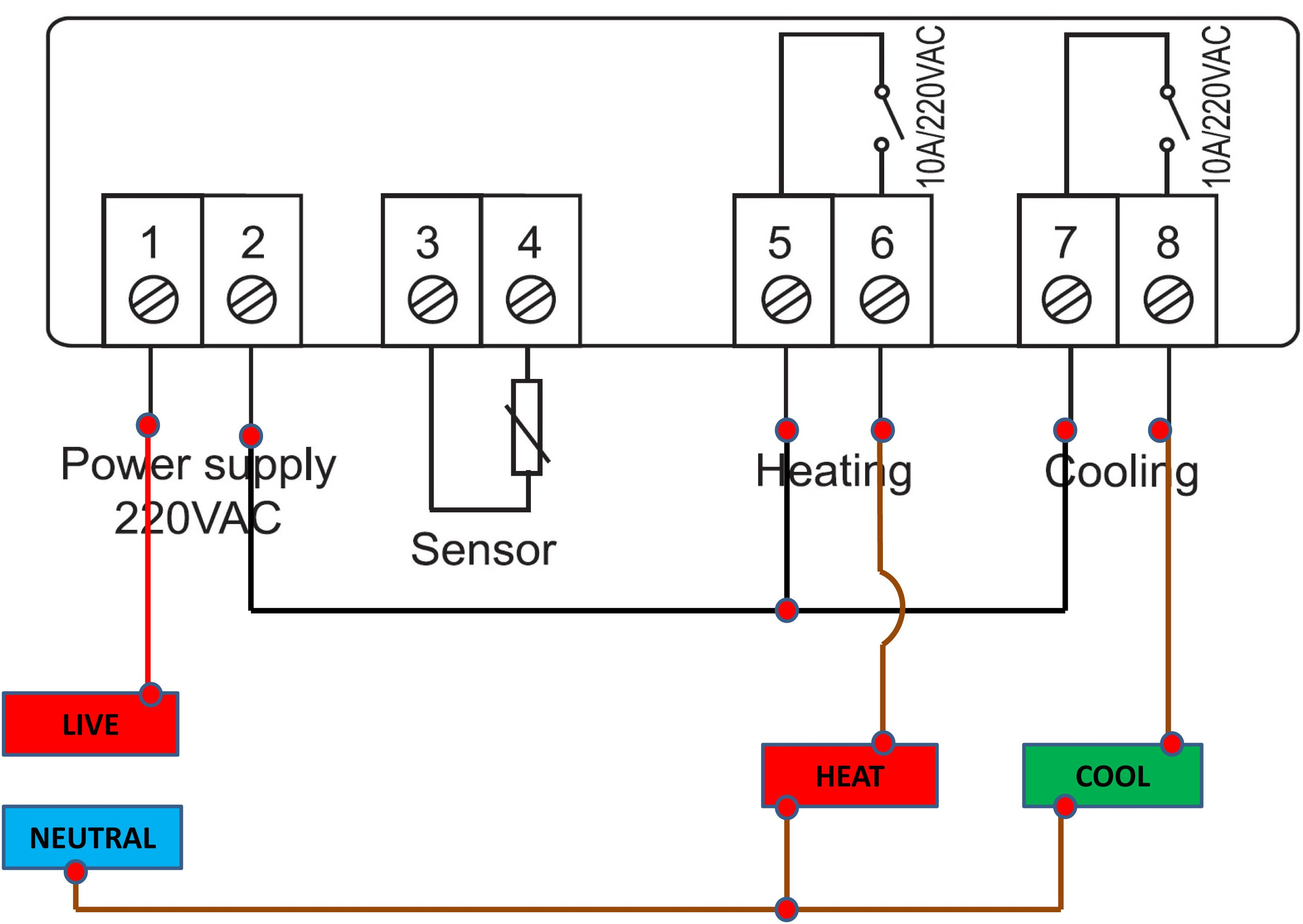 stc 1000 temperature controller wiring family life cycle diagram the elitech temeprature schematic