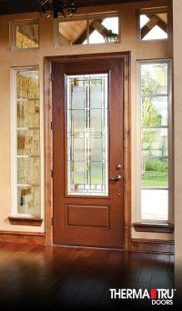 """Therma-Tru 8'0"""" Fiber-Classic Oak Collection fiberglass ..."""