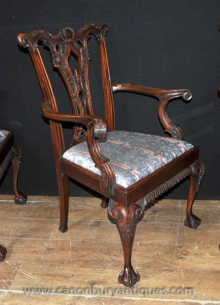 Chippendale chair with ball and claw feet