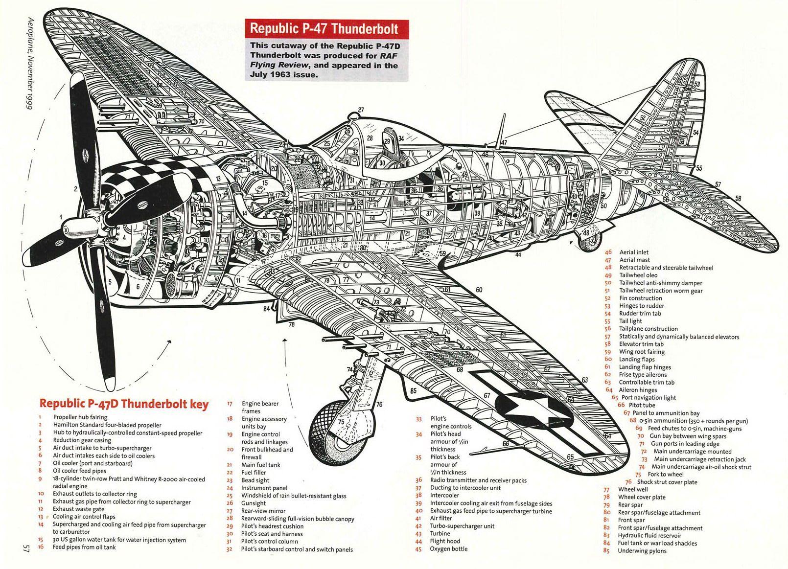 Republic P47d Thunderbolt Cutaway