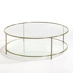 table basse en verre ronde
