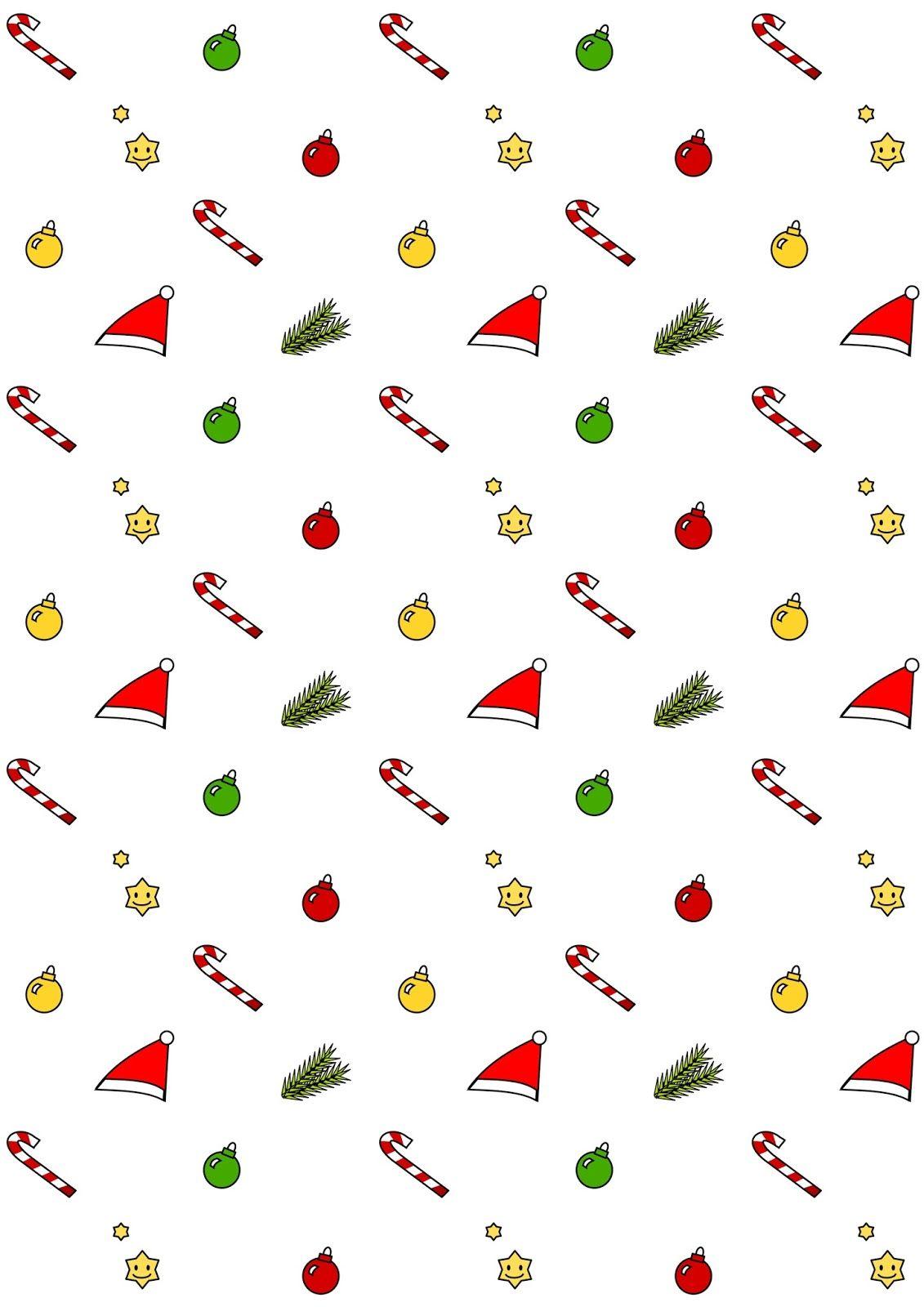 Free Printable Christmas Pattern Paper