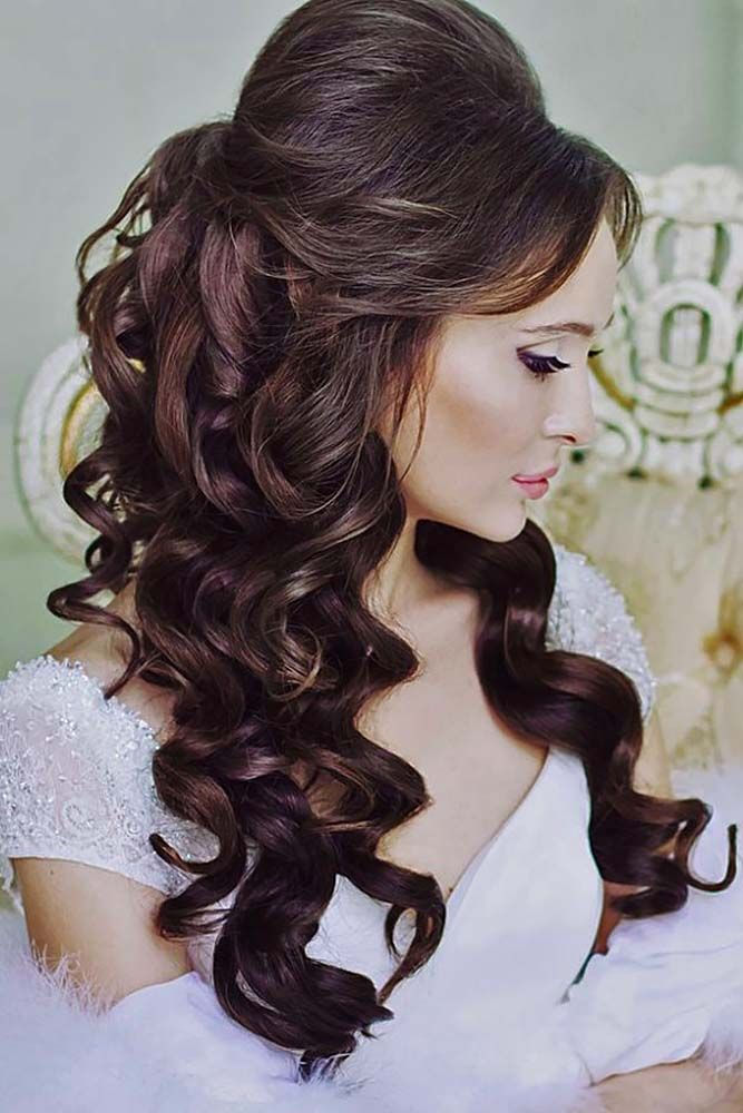 Image result for wedding hairstyles for long hair front