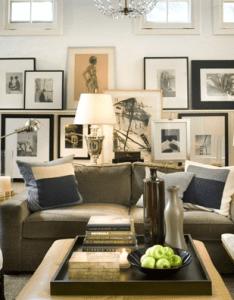 Suzie david jimenez chic modern living room design with gray velvet sofa blue  also simple elegant stone fireplace carrara marble rh pinterest