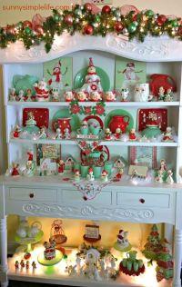 cozy Christmas cottage decor, jadeite collection, vintage ...
