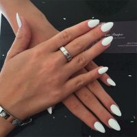 plain white acrylic nails - Google Search | Nails ...
