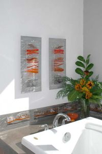 Contemporary Glass Wall Art, Fused Glass & Metal Wall Art ...