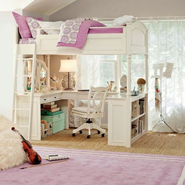 Teen Girls Loft Bed With Desk - Http