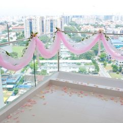 Chair Covers With Bows Attached Reclining Chaise Pretty To Put Around The Banister For Wedding   Champagne Party Pinterest Balcony Decoration ...