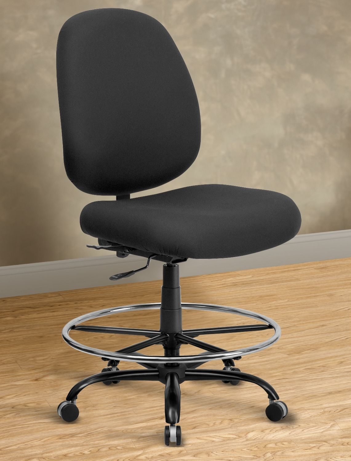 hercules big and tall drafting chair cool chairs for teenagers extra wide fabric  rounded back