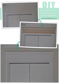 How to add decorative trim to door frames | For the Home ...