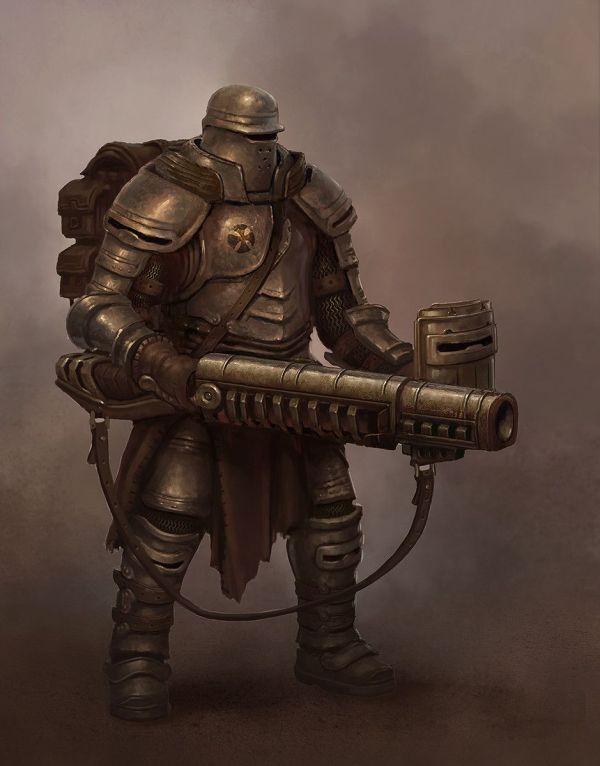 Steampunk Armor Concept Art