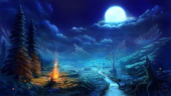 Anime Night Scene Wallpaper Amazing Resolution #o3306r3s Scenery