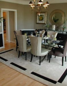 Typically the bottom of wall is painted white but  love this dark tone insteadrest manor model home modern dining room dc metro laura also transform whole look with beauty and practical rug rh pinterest