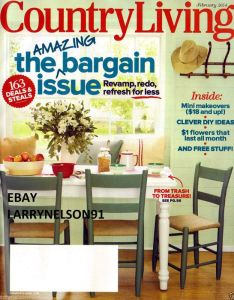 Country living magazine february bargain issue deals  steals diy ideas also martha stewart june delicious recipes ts rh pinterest