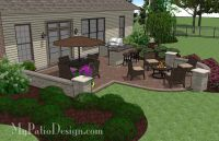 Creative Backyard Patio Design with Grill Station-Bar and ...