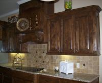 Our Kitchen Cabinets: Knotty Alder in Walnut stain (not ...