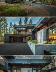 modern houses in the forest also scene and create rh pinterest