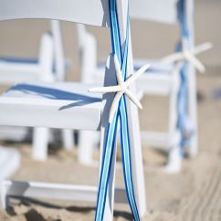 Starfish Wedding Chair Decorations Covers Near Me Details Beach Chairs With And