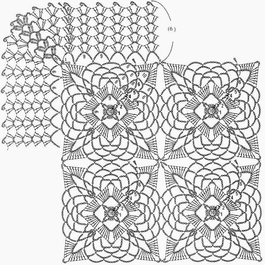 Crochet Patterns: Crochet Pattern of Tablecloth Or