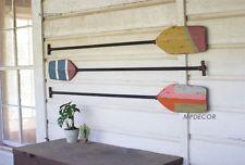 Set of wooden boat paddles wall art decor beach coastal nautical lake oars also rh pinterest