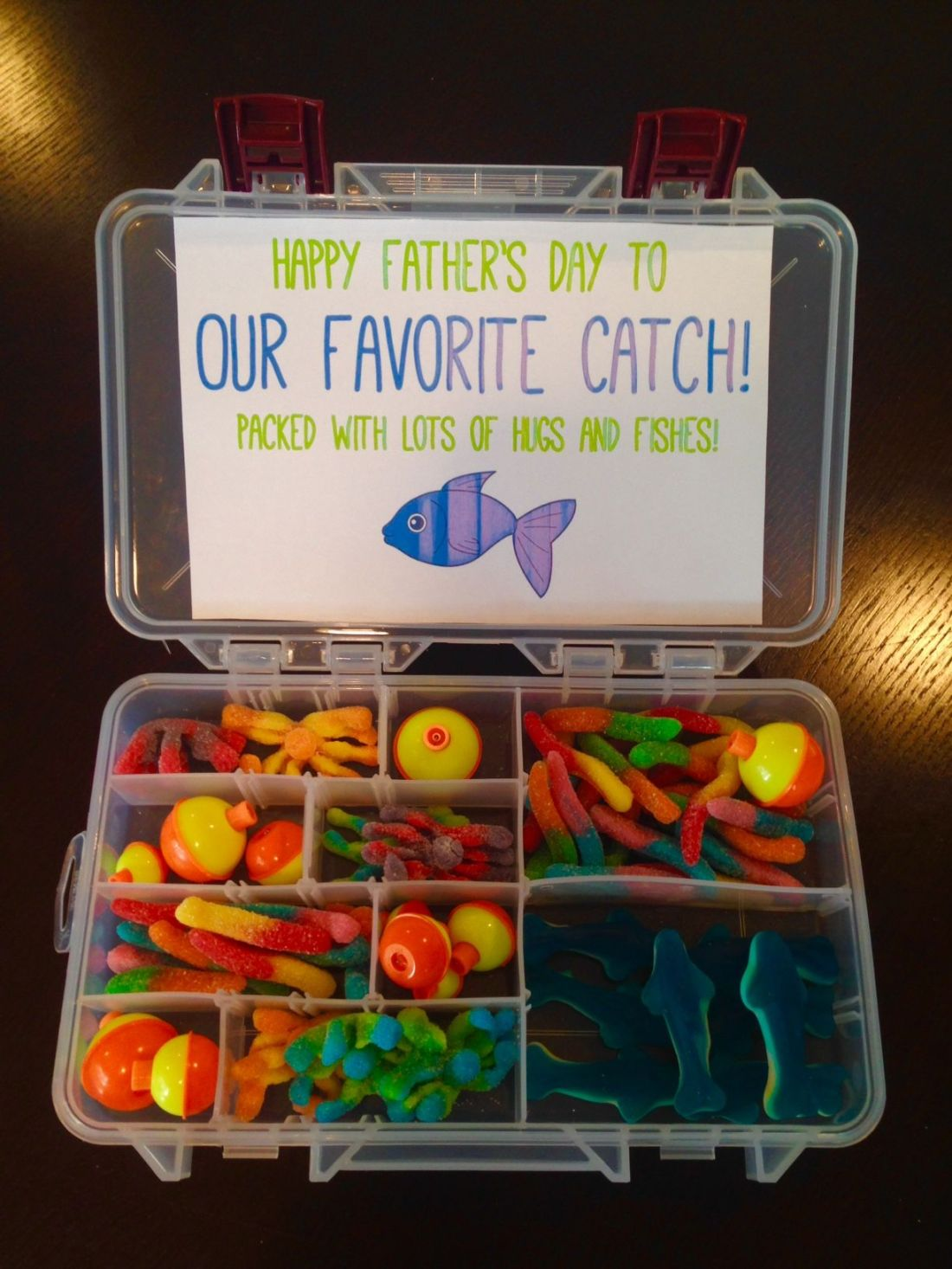 Fathers day favorite catch tackle box gift super dad