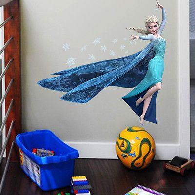 Room also elsa disney frozen wall sticker girls bedroom cm high uk seller rh pinterest