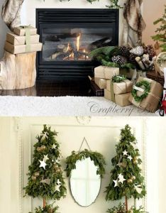 Christmas fireplace favorite decorating ideas  diy decorations for every room from the best home tours lots also rh pinterest