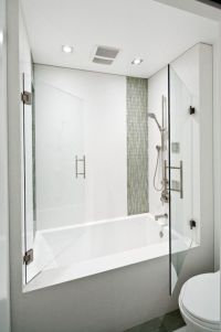 soaking tub shower combo