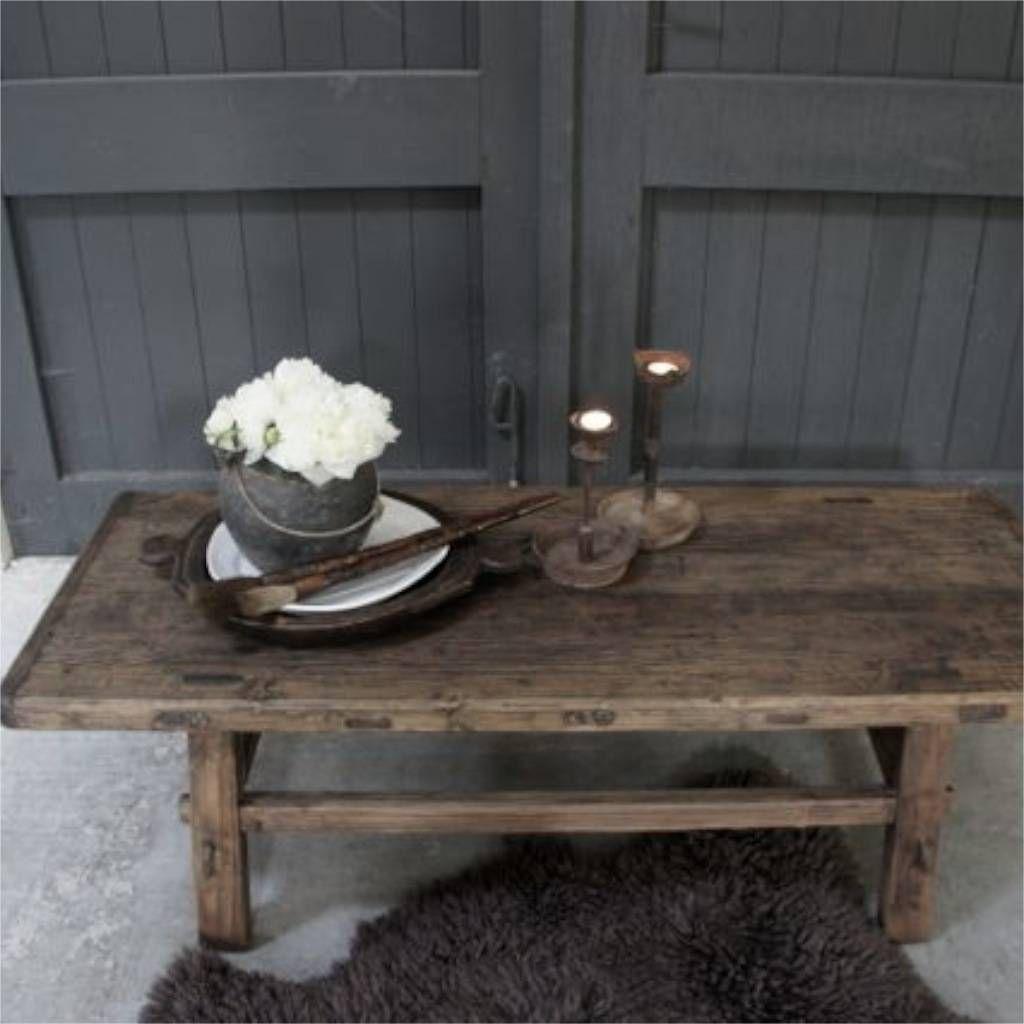 Oud houten Salontafel driftwood  Huisje  Pinterest