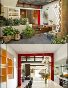 renovation of dark terrace house results in home that blends inside and outside also rh pinterest