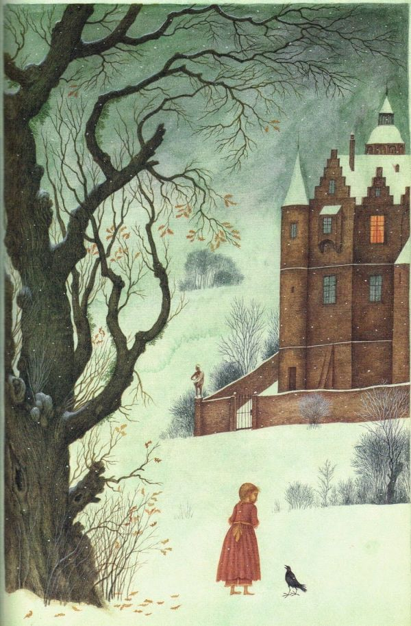 Children' Book Illustrations Snow Queen