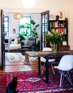 Breakfast nook furniture also that rug is perfection bohemian decor pinterest corner rh