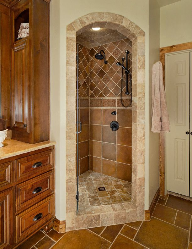 Remodel Shower Stall Bathroom Traditional with Arch Shower