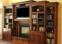 built in entertainment center with fireplace | Custom Made ...