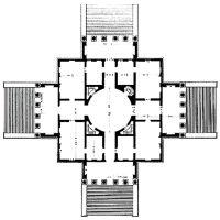 Palladio, Villa Rotunda, 1778. The plan as a centralised ...
