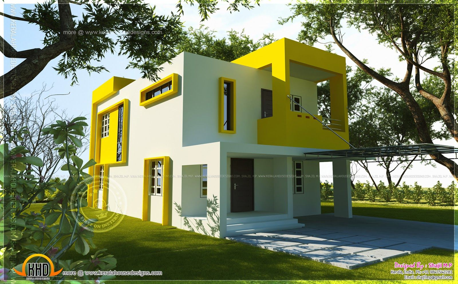 Small Contemporary House Square Feet Indian House Plans Square
