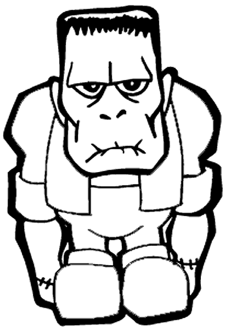 Frankenstein's monster will be much happier once you color