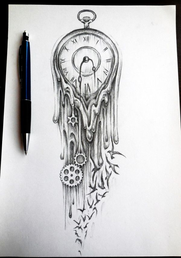 Time Flies Tattoo Clock Sleeve Design And Tattoos Of Keys