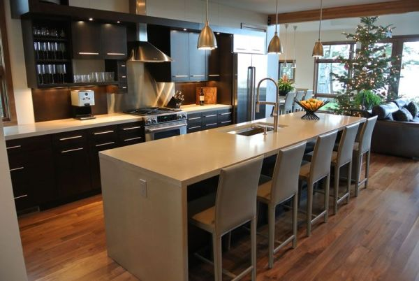 concrete kitchen countertops island Hard Topix - Precast Concrete Countertop | Kitchen Island