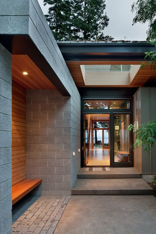View this great modern exterior of home with tile floors french doors by coates design architects & Exterior House Tiles Design Pictures - valoblogi.com