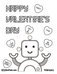 valentine's coloring pages | Valentines Day Coloring ...